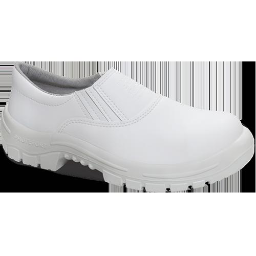 4.2456 - Sapato Elástico - Solado Bidensidade Protefort Premium - Microfibra - Biqueira Termoplástica - Branco