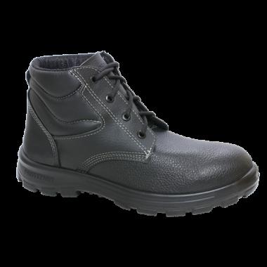 BC.7154 – Botina de Cadarço – Solado Protefort Comfort Mono – Couro – Biqueira Termoplástica- Preto