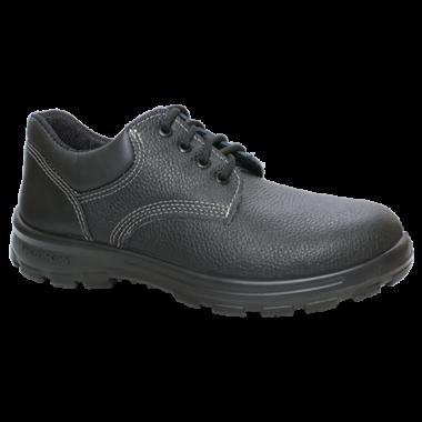 SC.7154 – Sapato de Cadarço – Solado Protefort Comfort Mono – Couro – Biqueira Termoplástica- Preto