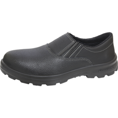 SE.7154 – Sapato de Elástico – Solado Protefort Comfort Mono – Couro – Biqueira Termoplástica – Preto