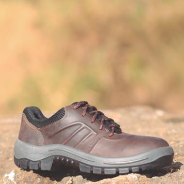 TFR.2658 - Tênis Freedom - Solado Bidensidade Protefort Premium - Fóssil - Biqueira Termoplástica - Marrom