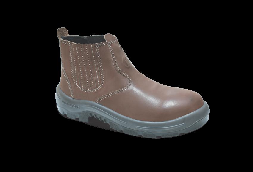 NB.3353 - Botina New Boot - Solado Bidensidade BomBoot - Nobuck - Biqueira Termoplástica - Castanho
