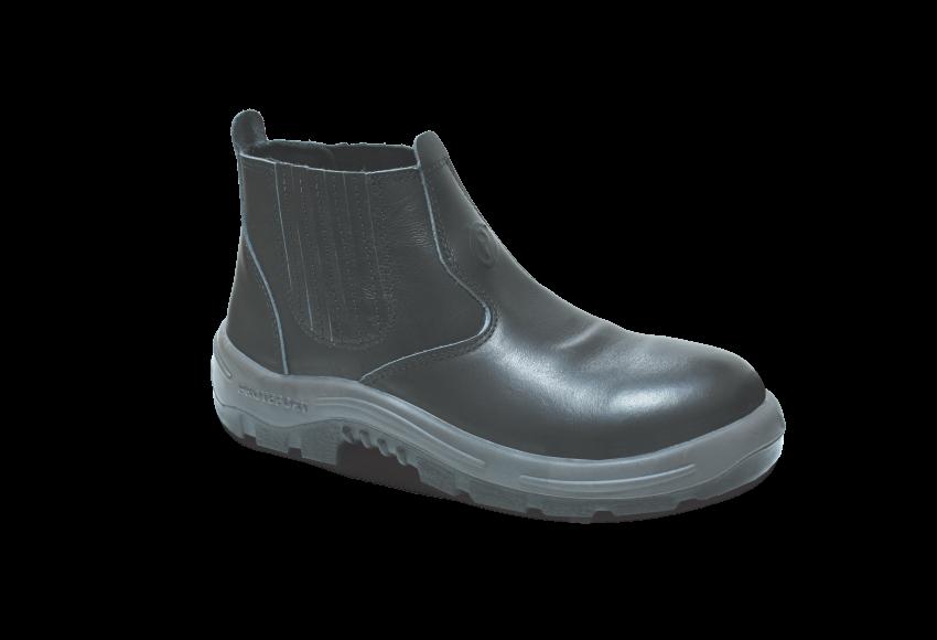NB.3554 - Botina New Boot - Solado Bidensidade BomBoot - Látego - Biqueira Termoplástica - Preto