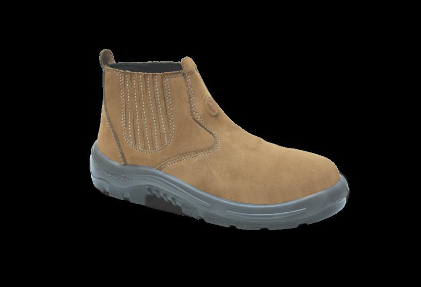 NB.3555 - Botina New Boot - Solado Bidensidade Protefort Premium - Látego - Biqueira Termoplástica - Caqui