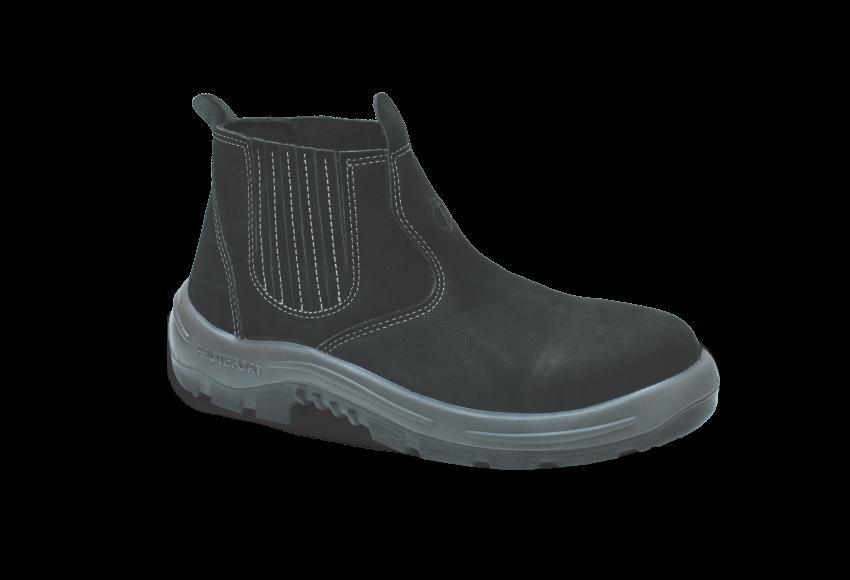 NB.3354 - Botina New Boot - Solado Bidensidade BomBoot - Nobuck - Biqueira Termoplástica - Preto