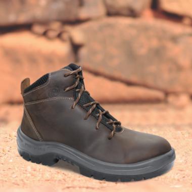 CBL.2658 - Coturno Bull - Solado Bidensidade Protefort Premium - Fóssil - Biqueira Termoplástica - Marrom