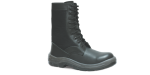 7.2194CLL - Coturno Militar - Solado Bidensidade Protefort - Couro Relax - Biqueira PVC - Preta - Cano de Lona - Liso