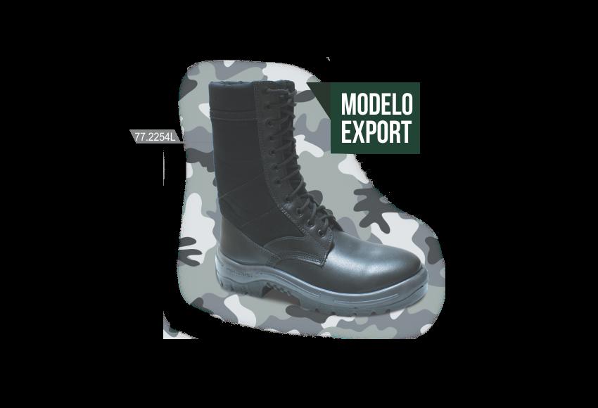 77.2254L - Militar Export - Solado Bidensidade Protefort - Vaqueta Lisa - Biqueira Termoplástica - Preto