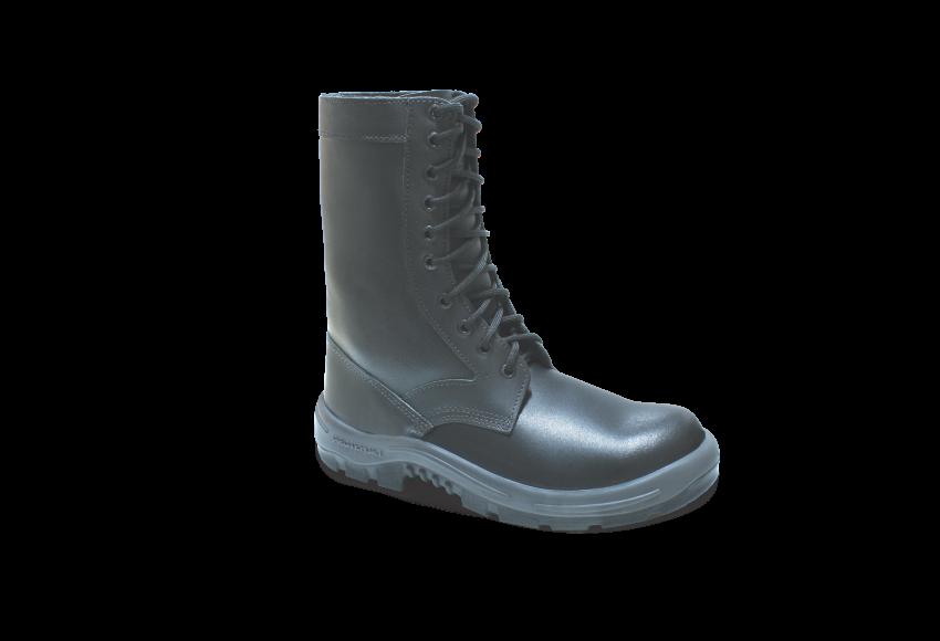 7.2294L - Coturno Militar - Solado Bidensidade Protefort - Vaqueta Hidrofugada Lisa - Biqueira PVC - Preta