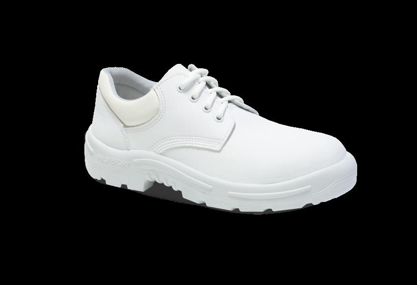 55.3456 - Sapato Cadarço - Solado Bidensidade Protefort Premium - Microfibra - Biqueira Termoplástica - Branco