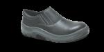 4.3154 - Sapato Elástico - Solado Bidensidade Protefort Premium - Couro - Biqueira Termoplástica - Preto