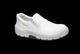 44.3496 - Sapato Elástico - Solado Bidensidade Protefort Premium - Microfibra - Biqueira PVC - Branco