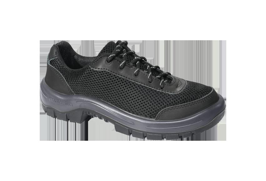 5.2554S - Tênis Runner - Solado Bidensidade Protefort Premium - Látego - Biqueira Termoplástica - Preto